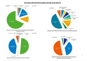 Compte administratif du budget principal, direction par direction, en 2015