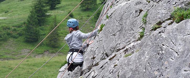 Escalade au Mont-Saxonnex